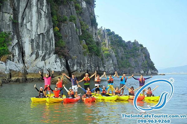 du lịch hạ long chèo thuyền kayak